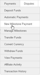 New Milestone Payment