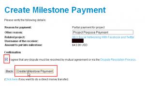 Create Milestone Payment